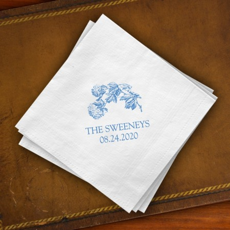 Prentiss Beverage Napkins - Floral Design