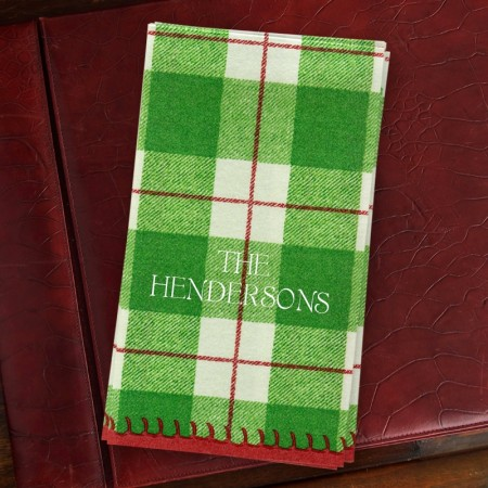 Green Plaid Guest Towels