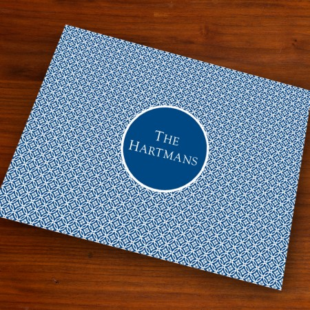 Merrimade Designer Paper Placemats - Navy Circles