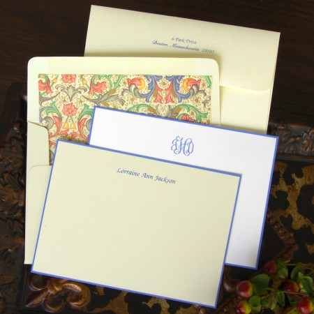 Periwinkle Hand Bordered Cards