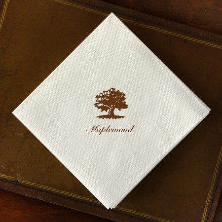 Designer Textured Beverage Napkins - Plain Border