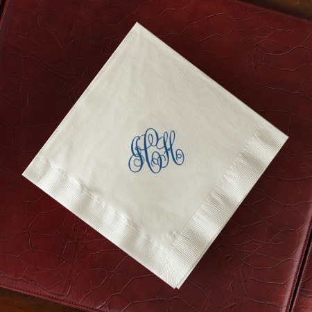 Designer Super Soft Buffet Napkins with Monogram