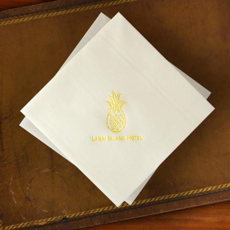 Designer Paper Linen Dinner Napkins
