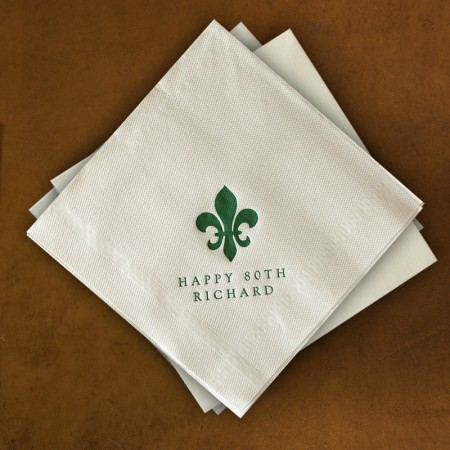 Designer Textured Buffet Napkins - Plain Border