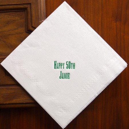 Textured Buffet Napkins - Embossed Border