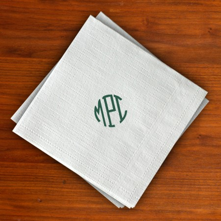 Textured Beverage Napkins - Embossed Border