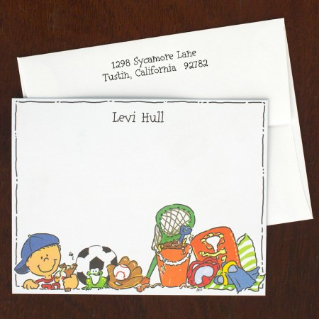All American Boy Correspondence Cards