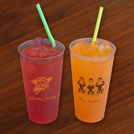 Designer 16 oz. Frosted Tumblers - with Design