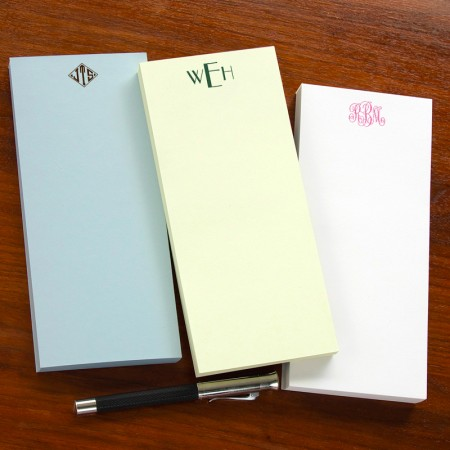 Designer Slender Memos - with Monogram