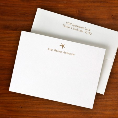 Design Correspondence Cards - Two Lines