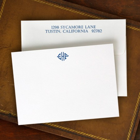 Design Correspondence Cards - Monogram