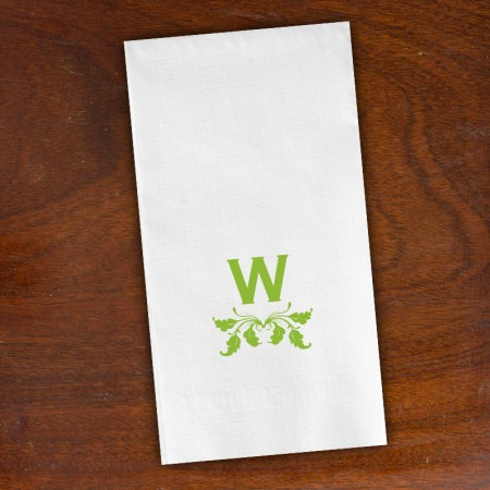 Leaf Accent Guest Towels