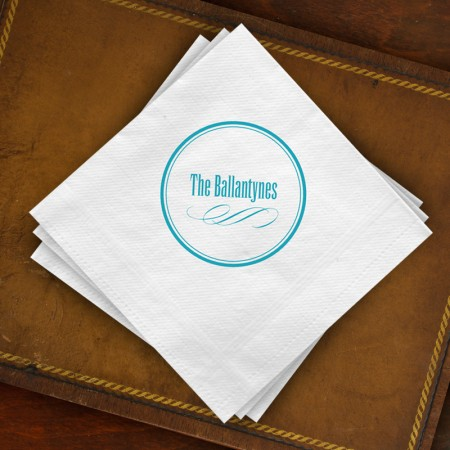 Circle Imprint Beverage Napkins