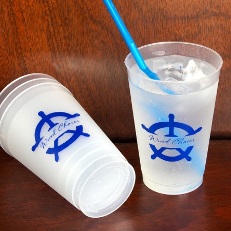 Captain's Wheel 10oz Frosted Tumblers