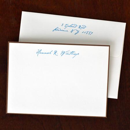 Chocolate Bordered Correspondence Cards