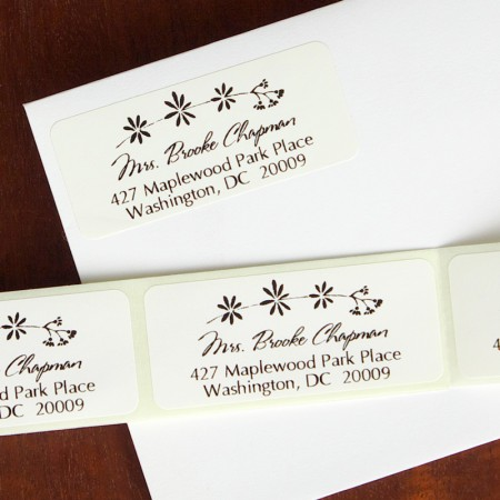 Nature's Way Address Labels - Floral Vine