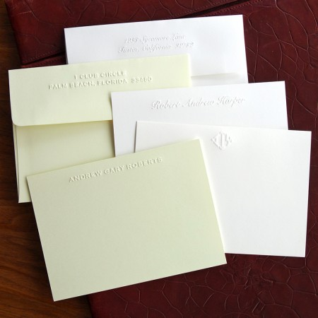 Embossed Correspondence Cards