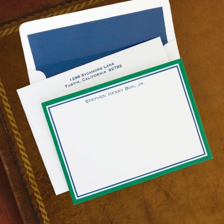 Border Hunter & Navy Correspondence Cards