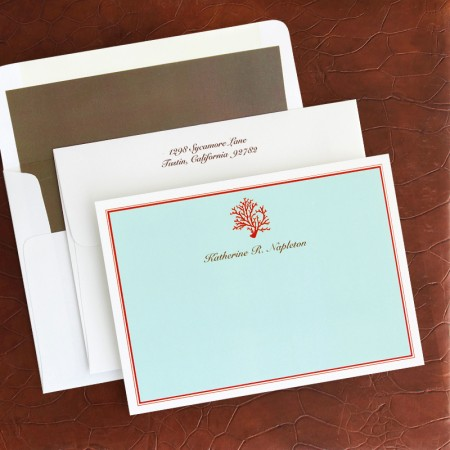 Coral Correspondence Cards