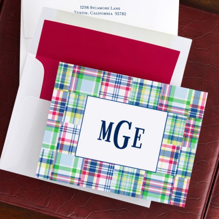 Madras Patch Blue Fold Notes