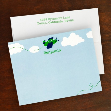 Airplane Correspondence Cards