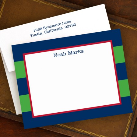 Rugby Navy & Kelly Correspondence Cards