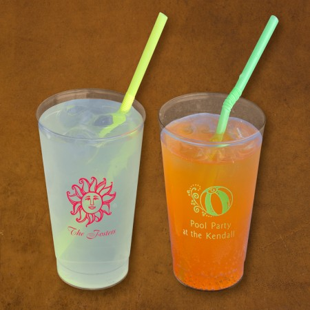 Designer 16 oz. Clear Tumblers - with Design