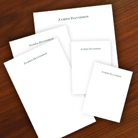 Personalized Memo Pad Set