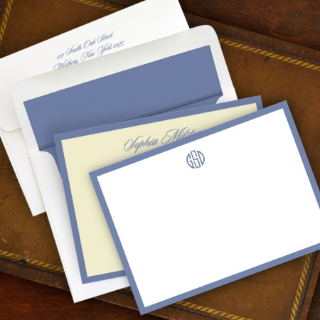 Periwinkle  Wide Hand Bordered Cards