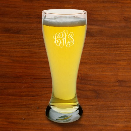Pilsner Glasses - with Monogram