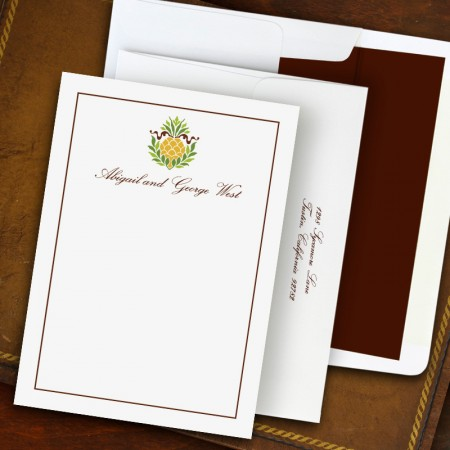 Pineapple Ribbon Correspondence Cards
