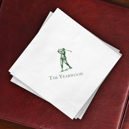 Prentiss Dinner Napkins - Golfer Design