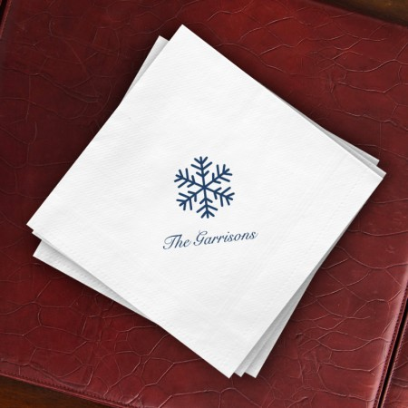 Prentiss Dinner Napkins - Snowflake Design