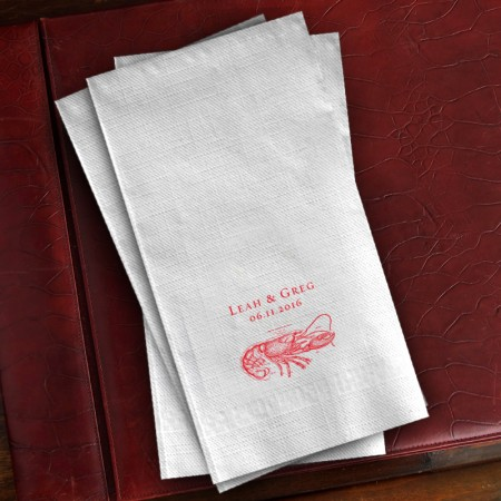 Prentiss Guest Towels - Lobster Design