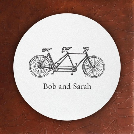 Prentiss Letterpress Coasters- Bike Design