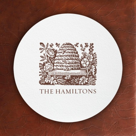 Prentiss Letterpress Coasters- Hive Design