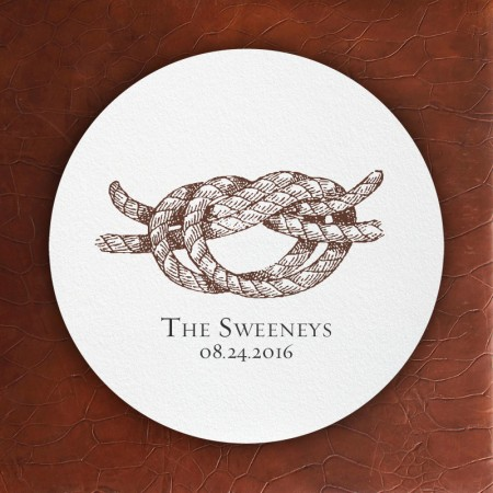 Prentiss Letterpress Coasters- Knot Design