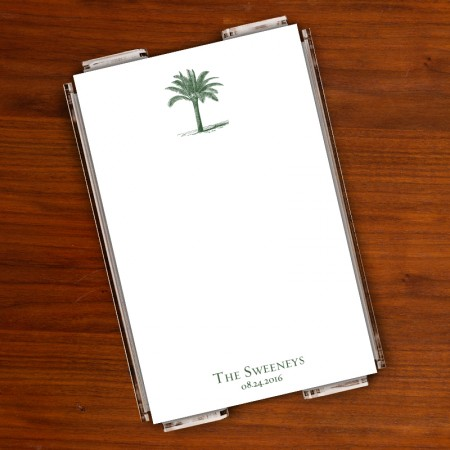 Prentiss Memo Set - Palm Tree Design