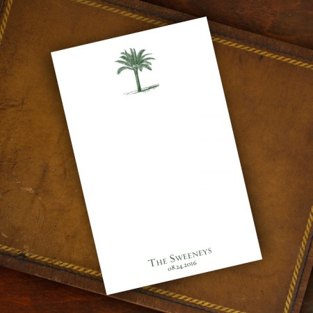 Prentiss Memo Set - Palm Tree Design Refill
