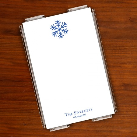 Prentiss Memo Set - Snowflake Design