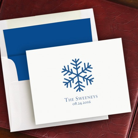Prentiss Notes- Snowflake Design