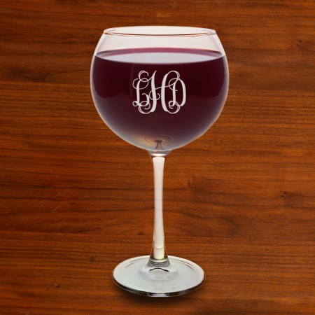 Red Wine Glass Set - with Monogram