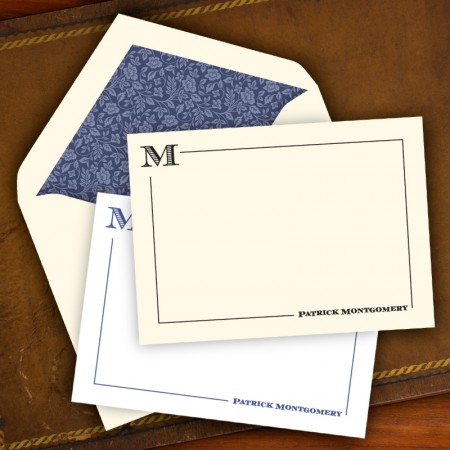 Stately Initial Correspondence Cards