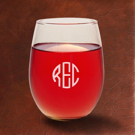 Stemless Wine Glass Set - with Monogram