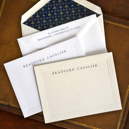 Triple Emobssed Correspondence Cards