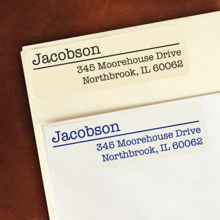 Typewriter Return Address Labels