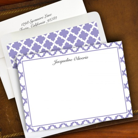 Victorian Lattice Stationery - Correspondence Cards