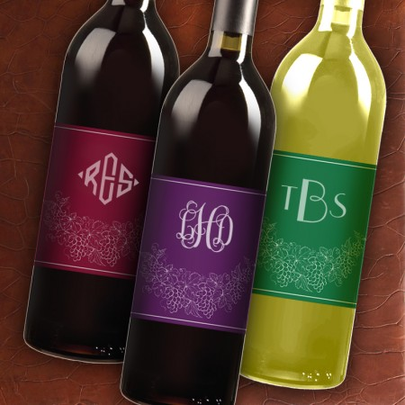 Wine Labels - with Monogram