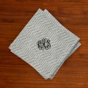 Caspari® Charcoal Herringbone Cocktail Napkins with Monogram