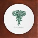 Prentiss Letterpress Coasters- Roses Design